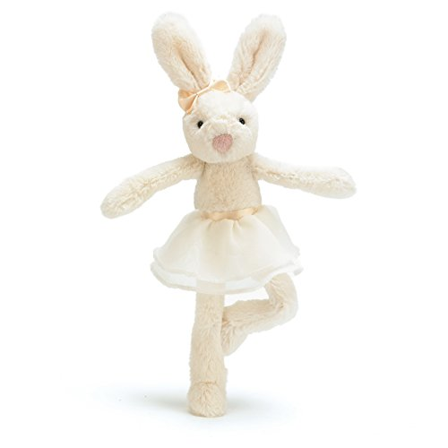 Jellycat Tutu Lulu Cream Bunny, 9 inches