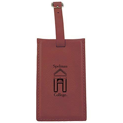 Spelman College – Leatherette Luggage tag-burgundy   B013VZ4TX4