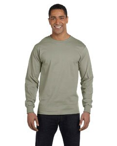 Hanes Adult Beefy-T Long-Sleeve T-Shirt (Hanes T T-shirts Blank Beefy)