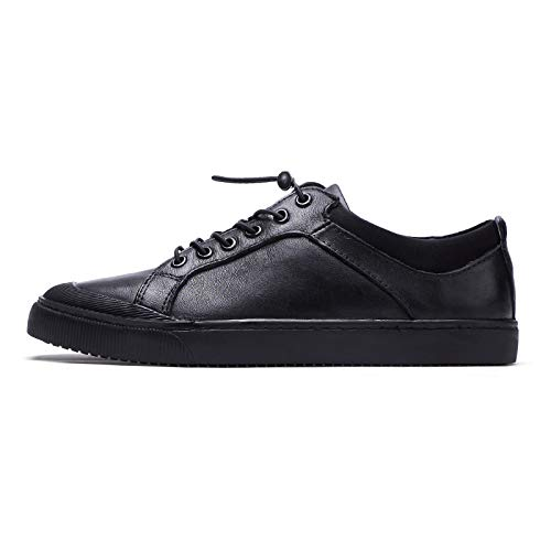Black LOVDRAM Men'S Leather shoes Autumn And Winter New Men'S Casual shoes Leather Breathable Men'S shoes Leather Trend shoes