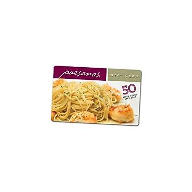 Paesanos Restaurant Group Gift Card