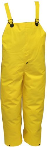 TINGLEY O53107.MD .35mm PVC/Polyester Storm Fly Front Overall, Medium, Yellow (Overalls Pvc)