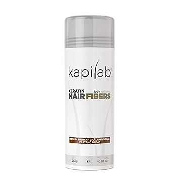 Kapilab Fibras Capilares (25 gramos, Castaño Medio): Amazon.es ...