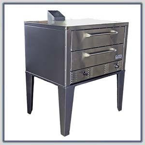 Peerless CW-61P Gas Twin Deck Pizza Oven : Peerless CW-62P-LPG-SS (Fr, Top, Sides, Back)- (CW-61P Dbl)