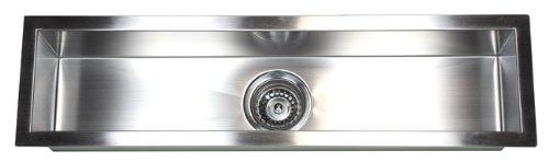 32 INCH Zero Radius Design Undermount Single Linear Bowl Stainless Steel Kitchen Bar Prep Island Sink (32 INCH) KKR-F3208 (Large Square Bar Sink)