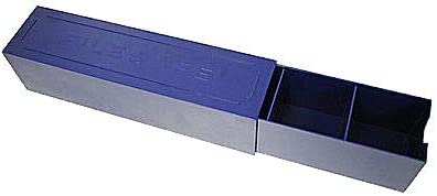 File-Safe Sliding Blue Plastic 2x2 Coin Storage Box