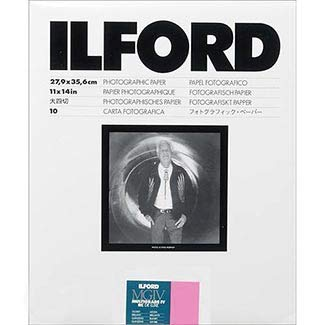 (Ilford Multigrade IV RC VC Contrast, Black and White 11x14 Paper, 10 Sheets)