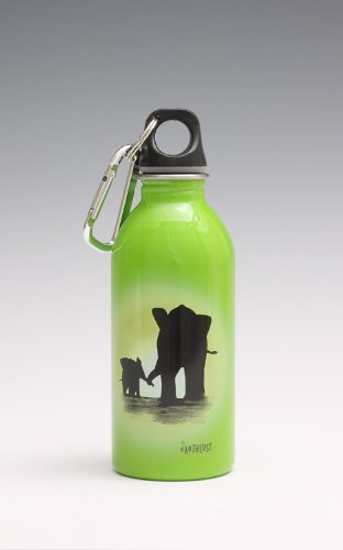 EarthLust Stainless Steel Water Bottle (13oz. / Elephant)