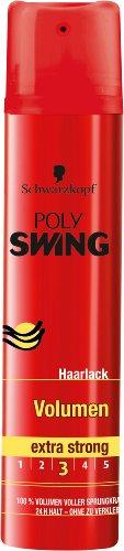 Schwarzkopf Poly Swing Volumen Haarlack, extra starker Halt, 5er Pack (5 x 250 ml)