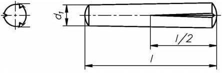 Reidl Pa/ßkerbstifte 2 x 8 mm DIN 1472 Stahl blank 250 St/ück