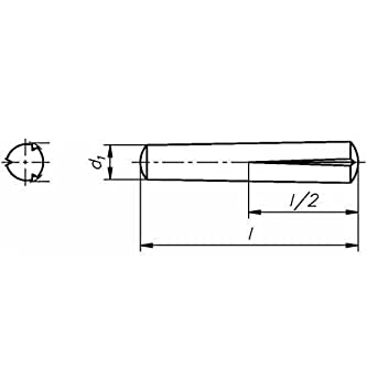 Reidl Pa/ßkerbstifte 6 x 22 mm DIN 1472 Stahl blank 10 St/ück