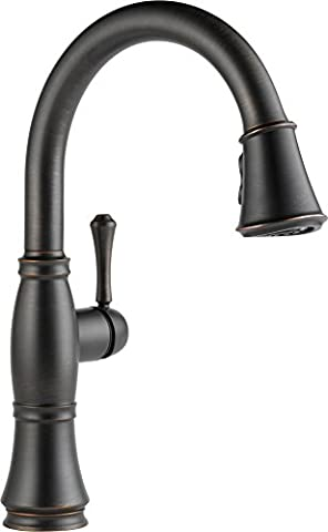 Delta Faucet 9197-RB-DST Cassidy, Single Handle Pull-Down Kitchen Faucet with Magnetic Docking, Venetian (Pulldown Faucet Delta)