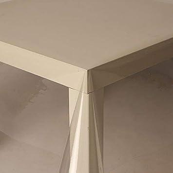 Hule de PVC transparente de 2,5 metros (250cm x 140cm, 0,2mm), 200micrones, limpieza con paño, mantel de vinilo/plástico