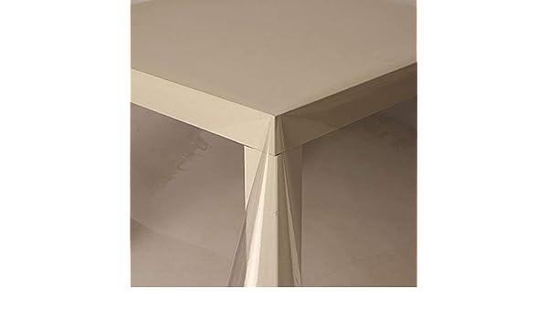 Hule de PVC transparente de 2,5 metros (250 cm x 140 cm, 0,2 mm ...