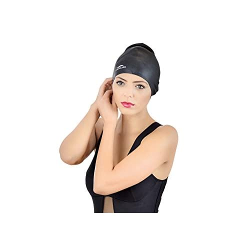 Swim Elite Silicone Swimming Cap for Long Hair PLUS Nose Clip …