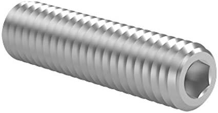 verzinkt getempert Madenschrauben 10 St/ück ehemals DIN 913 galv 10X M5x20 Gewindestifte mit Innensechskant und Kegelstumpf 45H nach DIN EN ISO 4026