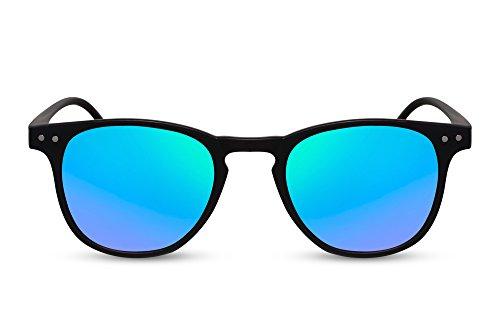 UV400 Diseño Gafas Gafas Rectangular Festival Lentes Accesorios Unisex Ca Cheapass 004 de Espejados Redondas sol Azules v0nHTF