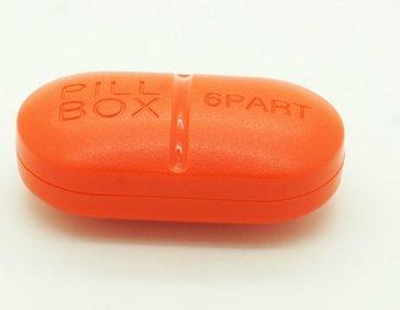 Peino - Pastillero portátil con 6 ranuras para pastillas, dispensador de pastillas, impermeable,