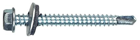 The Hillman GroupThe Hillman Group 35173 Hex Washer Head Self-Drilling Screw w//Neoprene Washer 12 x 1-1//2 20-Pack