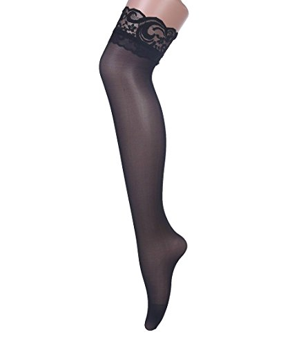 Buy black lace dress and stockings - 3