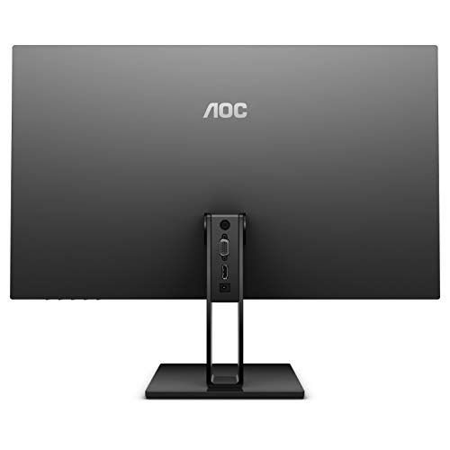 AOC 24V2H 24 Full HD 1920x1080 Ultra-Slim Monitor, Frameless IPS Panel, 5ms, 75Hz, Freesync, Flickerfree, HDMI/VGA