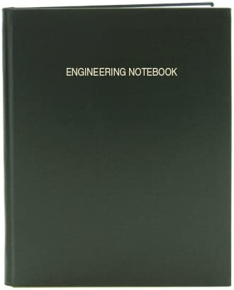 8 x 10 LIRPE-096-SGR-A-LGT4 .25 Grid Format Smyth Sewn Hardbound BookFactory Green Engineering Notebook Green Cover 96 Pages