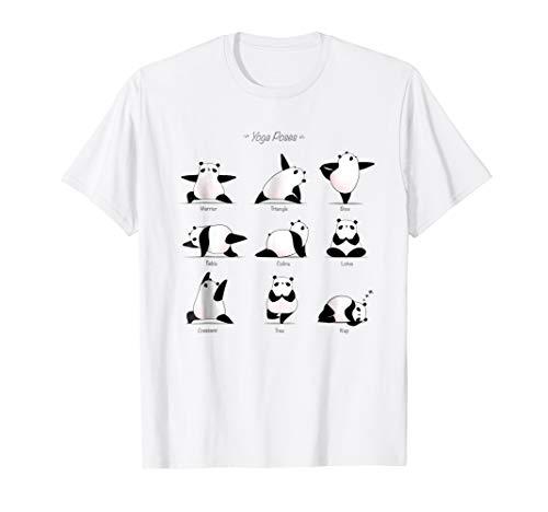 Yoga Panda Funny Poses Tshirt | Cool Exercises Gift