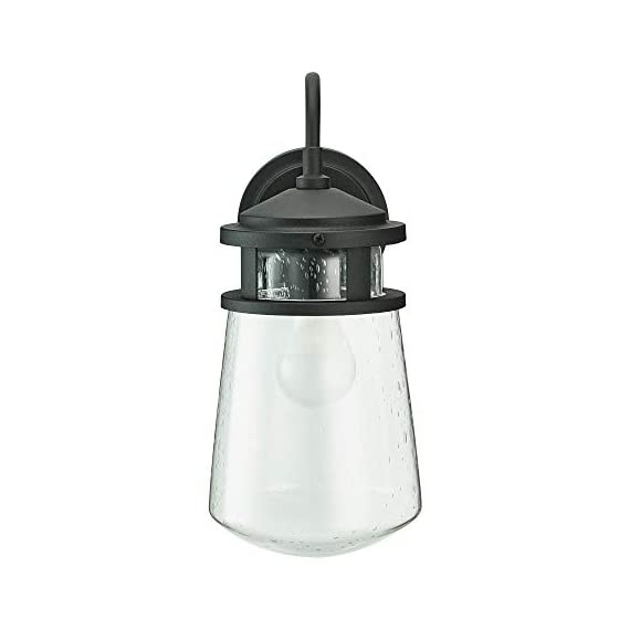 "Home Luminaire 31676 Montana Outdoor Wall Lantern, Black - Add some seaside flair to your outdoor space Use it to light up your front porch, back deck, or even your driveway Package dimensions: 9.05"" L x 9.05"" W x 19.68"" H - patio, outdoor-lights, outdoor-decor - 31L E9JBqIL. SS570  -"