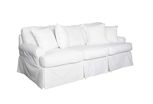 Sunset Trading Horizon Sofa-Slip Cover Set Only, Warm White