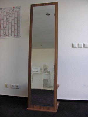Penderie avec miroir Prune noyer Hauteur 184 cm