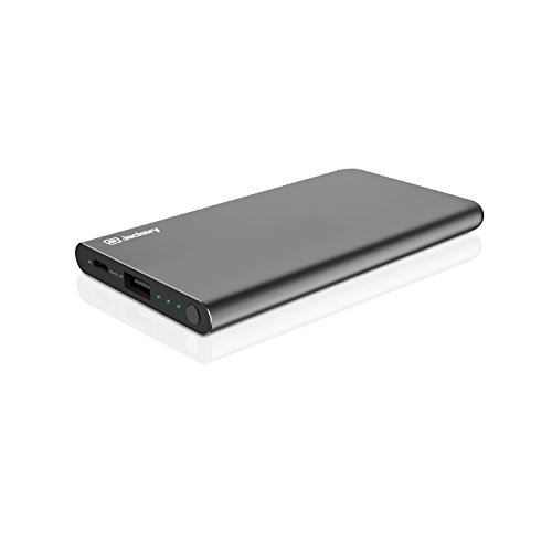 Amazon Lightning Deal 80% claimed: Jackery Pop Slim 5000mAh Portable Charger - Ultra Slim/Ultra Light External Battery Pack with Aluminum Shell and Smart Fit Technology, Pocket-Sized, Special Edition for iPhone & More