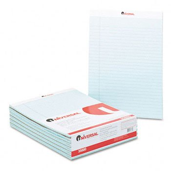 Universal® Fashion Colored Perforated Ruled Writing Pads PAD,LGL RULD,8.5X11,BE (Pack of4) by UNVSL