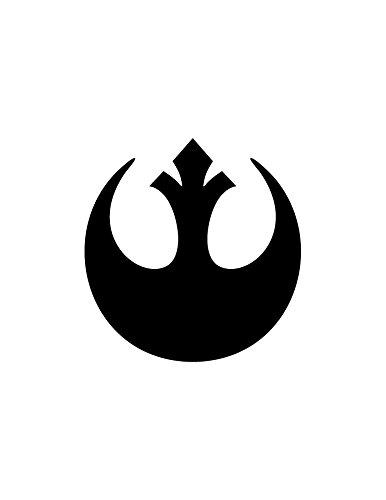 1094 STAR WARS REBEL ALLIANCE DECAL BLACK 5
