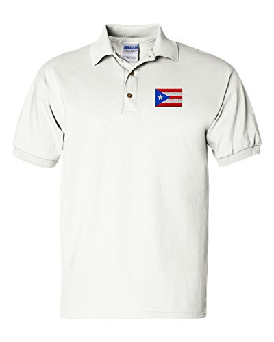 Puerto Rico Flag Custom Personalized Embroidery Embroidered Golf Polo Shirt - Golf Flag Embroidery