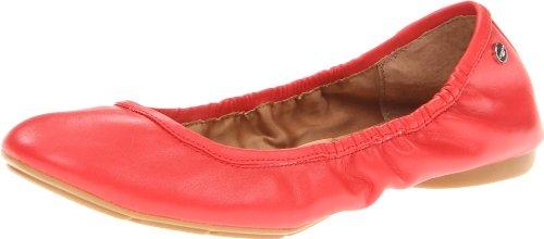 Calvin Klein Womens Preila Shiny S Nappa Ballet Flat Coral