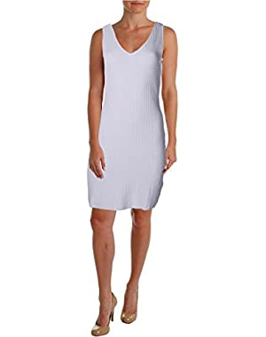 Guess Womens Knit Stretch Sweaterdress White L