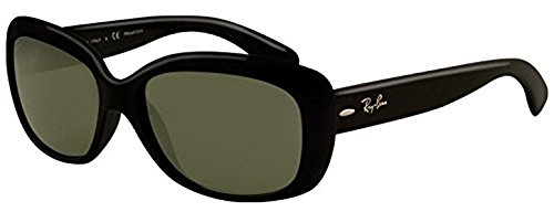 Ray-Ban Jackie Ohh RB 4101 Sunglasses Black/Crystal Green Polarized 58mm & HDO Cleaning Carekit Bundle