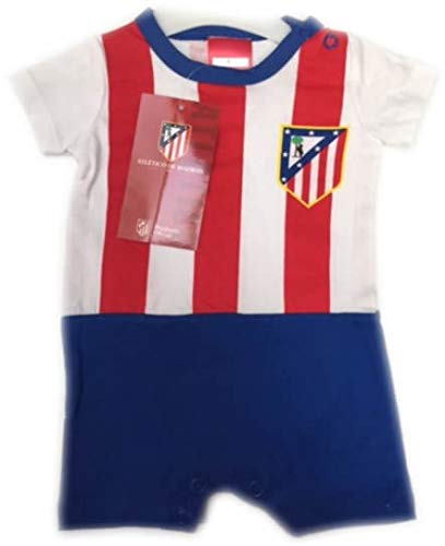 FUTBOL Body Bebe Atletico de Madrid equipación - 6Meses: Amazon.es ...