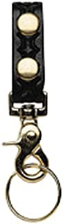 product image for Boston Leather 5436-1-N Black Belt Keep Key Ring Combo Deluxe Swivel Snap