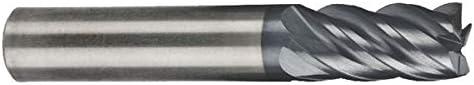 REX5173 AlCrN Coated 4.0000 OAL .5000 5 Flute 2.1250 LOC .0600 Radius Single End Corner Radius Carbide End Mill RedLine Tools Round Shank Type 1//2