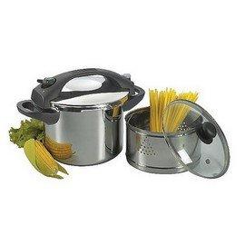 Amazon Com Manttra 8 Quarts 5pc Multi Pressure Cooker Set