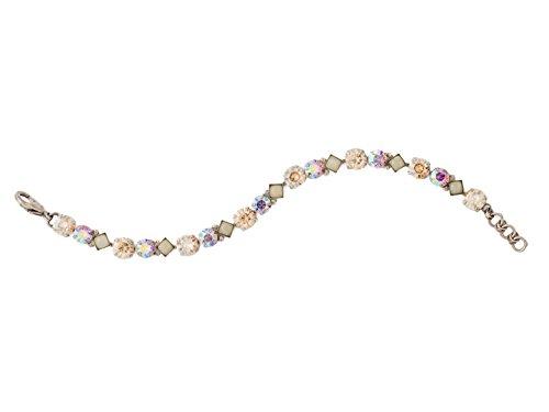 Sorrelli Darling Dmnd Mirage Swarovski Crystal Antique Goldtone Tennis Bracelet ()