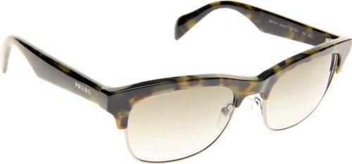 Prada Womens Sunglasses (PR 11P) Green/Grey Acetate - Non-Polarized - ()