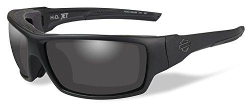 Harley-Davidson Men's Jet Sunglasses, Smoke Lenses/Matte Black Frames HDJET01