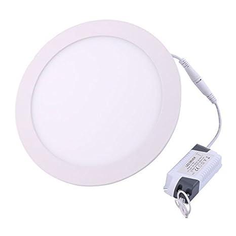 eDealMax blanca 18W Ronda Inicio regulable LED empotrada en el techo panel hacia abajo AC100-