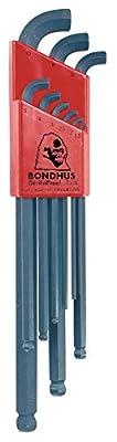 Bondhus 16599 Set of 9 Balldriver Stubby L-wrenches, sizes 1.5-10mm