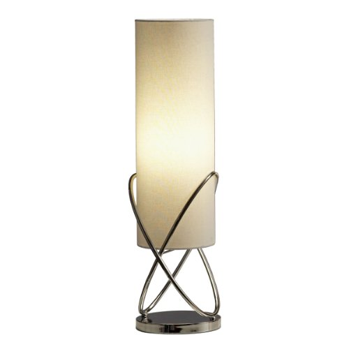 NOVA of California 11189 Internal Modern Table Lamp with Dimmer Switch, Steel Body in Chrome Finish, for Living Room, Den, Family Room, Office, Bedroom (Switch Dimmer Chrome)