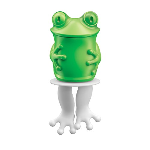 Zoku Individual Character Pops, Frog Ice Pop Mold, Easy-Release Silicone Design, Single Unit