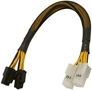 AYA 8 ATX-12V 4Pin//EPS-12V 8Pin ATX-EPS Extension /& Conversion Four-in-One Cable