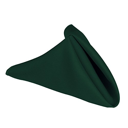 LinenTablecloth 17-Inch Polyester Napkins (1-Dozen) Hunter Green